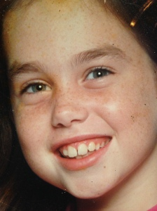 Featuring Baby Sarah before braces or tweezers (moment of silence for the latter, please)!