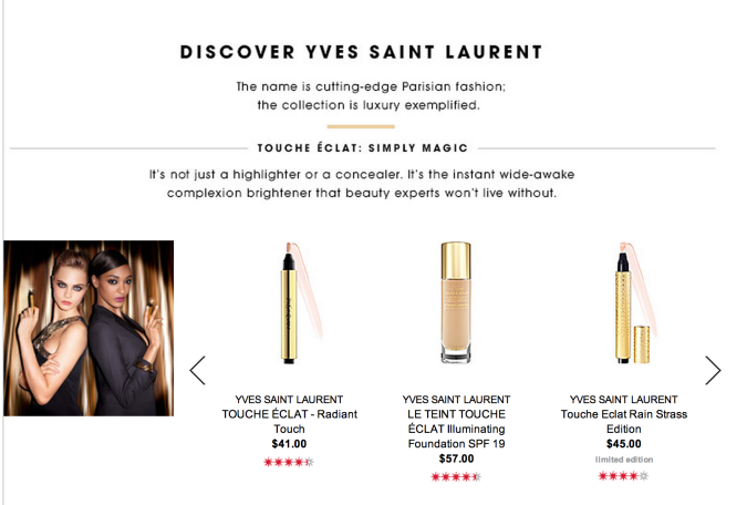 YSL Brand Page