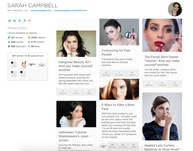 Sarah Campbell's Contently Portfolio